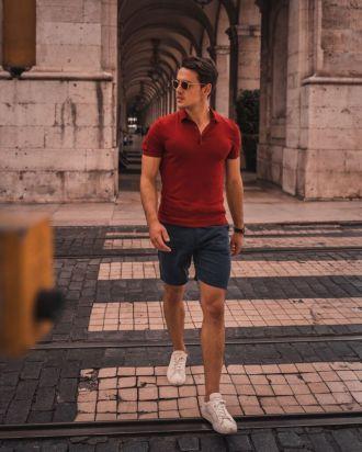 4 tips phối quần short kaki vừa năng động lại giúp chàng tăng thêm vẻ thanh lịch