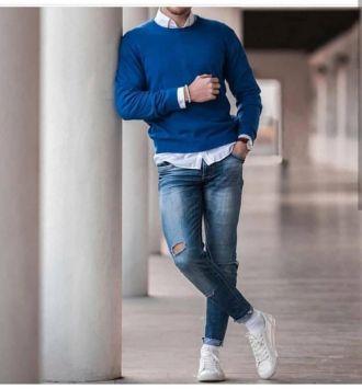 Cảm hứng phối đồ layer với áo sweater giúp ngày thu đông của chàng ấm áp