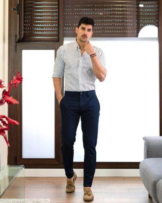 Cảm hứng phối quần trouser tối màu giúp chàng đến công sở bảnh bao