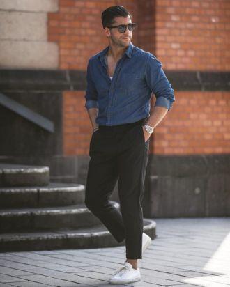 Vừa bảnh bao vừa năng động với cảm hứng phối quần trouser đen cùng giày sneaker