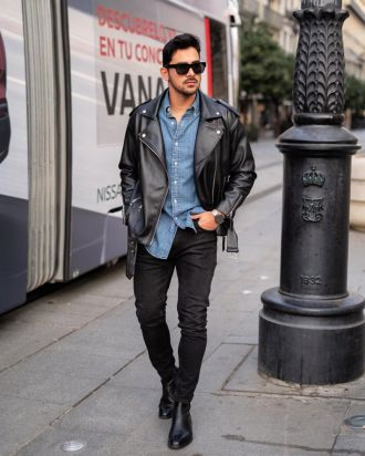 4 tips phối áo khoác biker jacket da chất cực chất mà chàng không nên bỏ qua