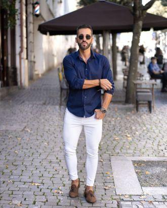 5 cách phối quần jeans trắng giúp chàng định hình style trẻ trung thanh lịch