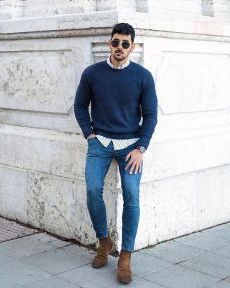 """Cảm hứng phối áo sweater và sơ mi chuẩn """"style layer"""" đầy ấm áp và lãng tử"""