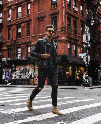 Cảm hứng phối giày chelsea boots da lộn cho chàng đầu tuần xuống phố cực chất
