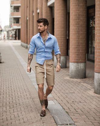 3 gợi ý phối quần short cùng áo sơ mi giúp chàng xuống phố thanh lịch