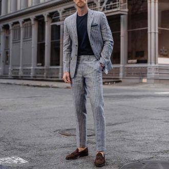 Bí quyết để chọn một bộ suit kẻ sọc vừa nam tính vừa trẻ trung hiện đại